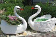 Posoda za rože v obliki laboda